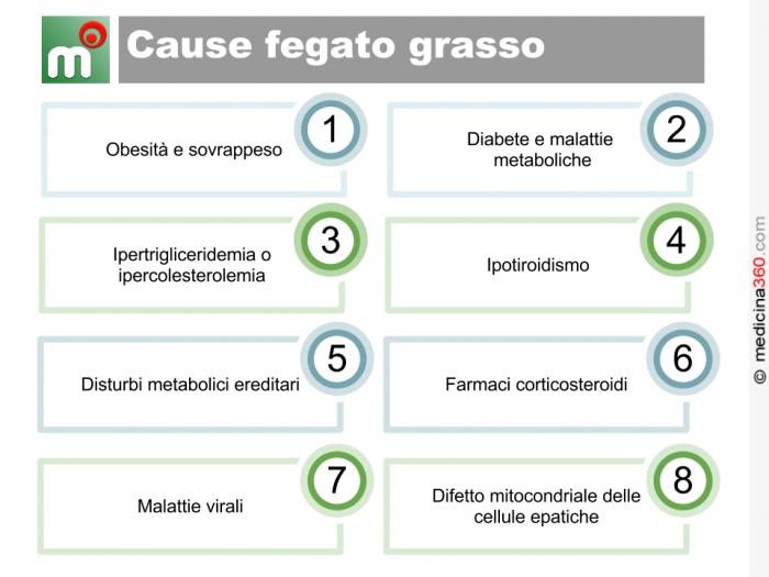 Fegato grasso cause