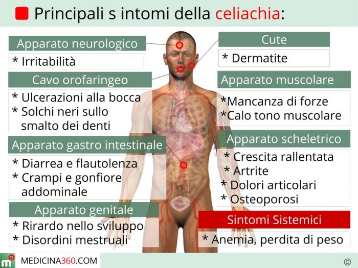 Risultati immagini per foto il corpo celiachia