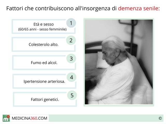 Demenza senile: sintomi, cause, cure, diagnosi e decorso