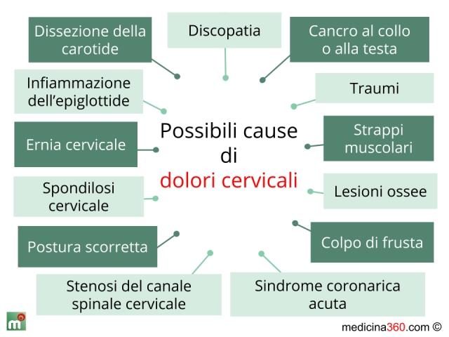 Muscoli di miozit di reparto cervicale di una spina dorsale
